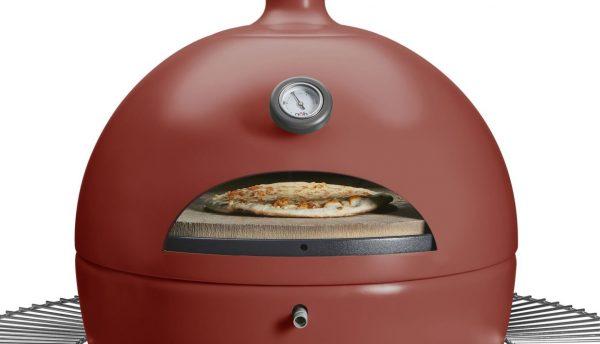 Barbecue à granulés POB PBQ couleur rouge plateau pizza