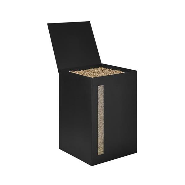 rangement pour pellet bois