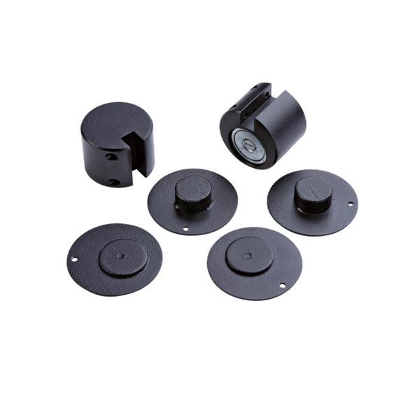 Flod - Kit de fixation pour protection pour poêle Noir