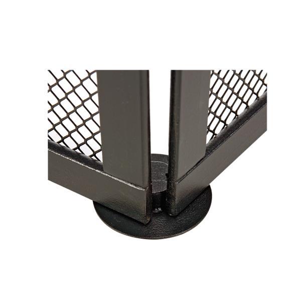 Amb2_Flod - Kit de fixation pour protection pour poêle Noir