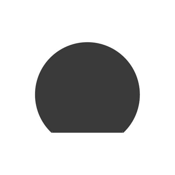 Plaque de sol Ronde coupée - Gris sablé