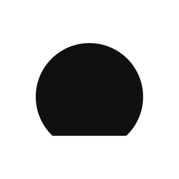 Plaque de sol Ronde coupée - Noir givré